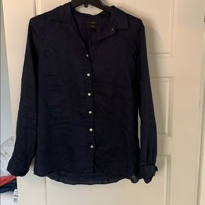 J Crew linen button down